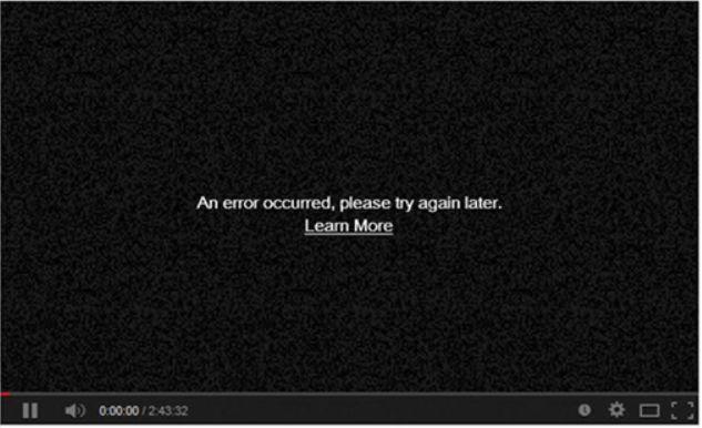 YouTube黑屏