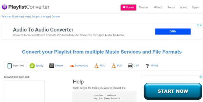 使用Playlist Converter在線下載Spotify音樂